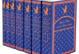 Harry Potter Book Series Full Set In Ravenclaw-themed book jackets