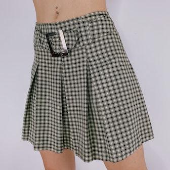 '90s Plaid Mini Skirt