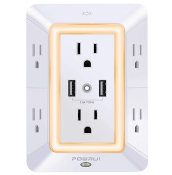 POWRUI Outlet Extender with Night Light