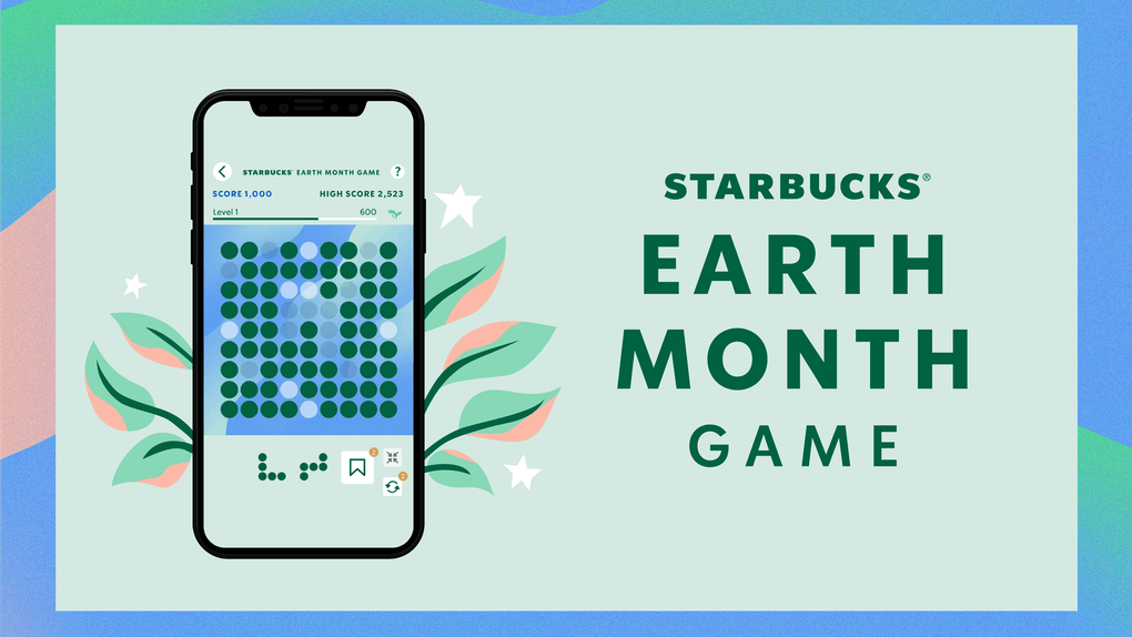 Starbucks' Earth Month Game prizes include free drinks for a year and an electric bike.