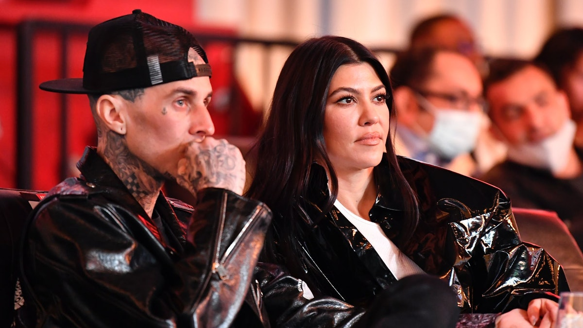 Travis Barker and Kourtney Kardashian.