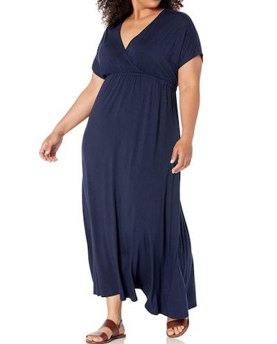 Amazon Essentials Plus Size Surplice Maxi Dress