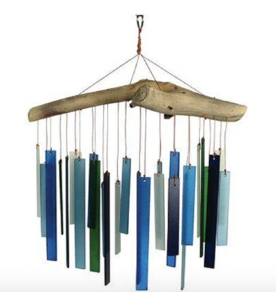 Beach Glass and Driftwood Wind Chime