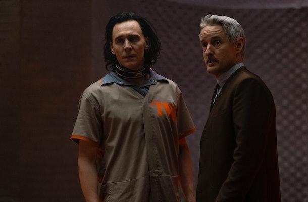 Tom Hiddleston as Loki; Owen Wilson as Mobius M. Mobius in Loki