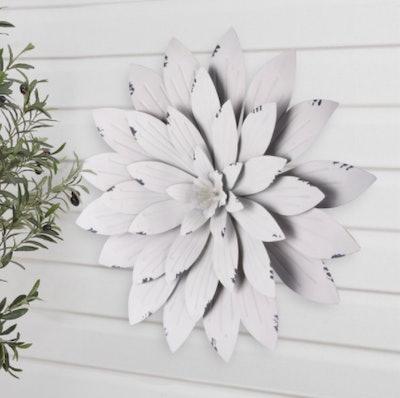 Better Homes & Gardens White Metal Jasmine Outdoor Wall Art