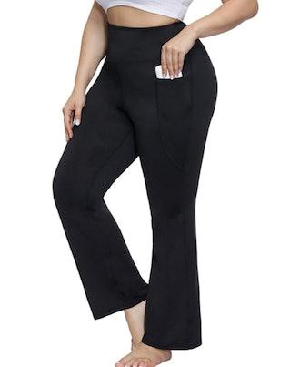 Hanna Nikole Plus Size High Waisted Bootcut Pants