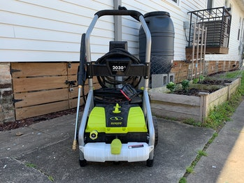 Sun Joe pressure washer front facing photo This Thing Rules