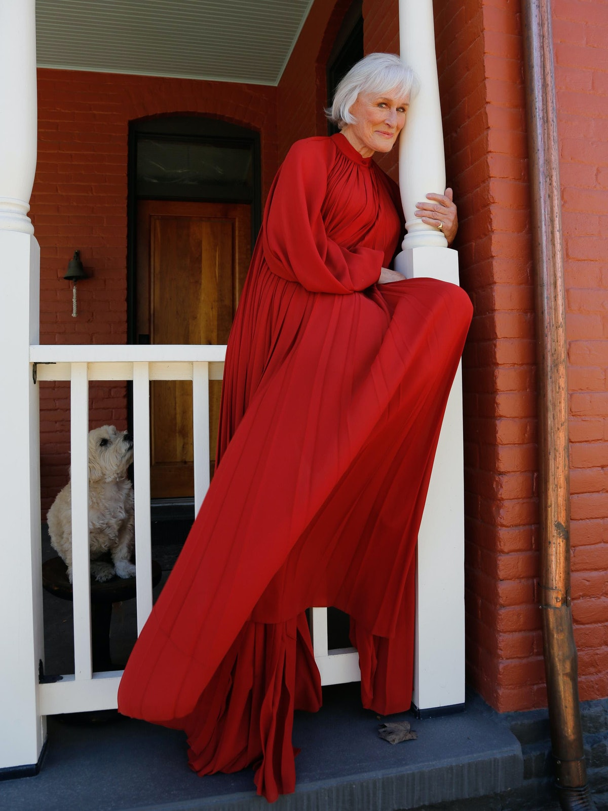 Glenn Close red dress
