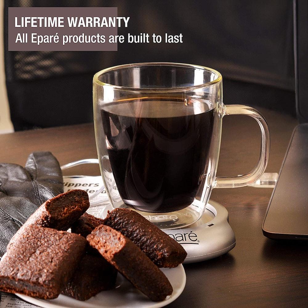 eparé Glass Coffee Mugs (2-Pack)