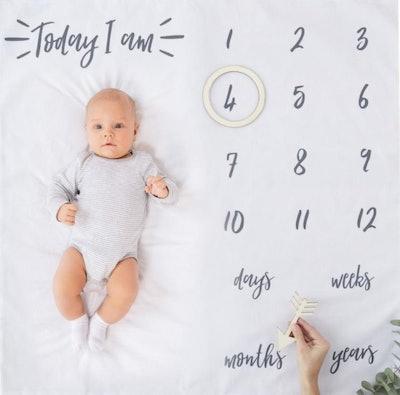 InspiredbyAlma Baby Milestone Blanket