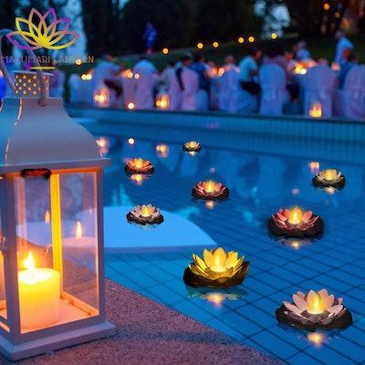 MAKUMARI Lotus Floating Lanterns (10-Pack)