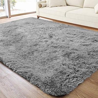 ACTCUT Shag Faux-Fur Area Rug, 4 x 5 Feet