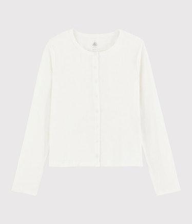 Women's Plain Cotton / Linen Cardigan