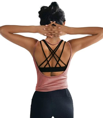 OYANUS Backless Workout Top