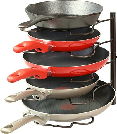SimpleHouseware Kitchen Cabinet Pantry Pan and Pot Lid Organizer Rack Holder