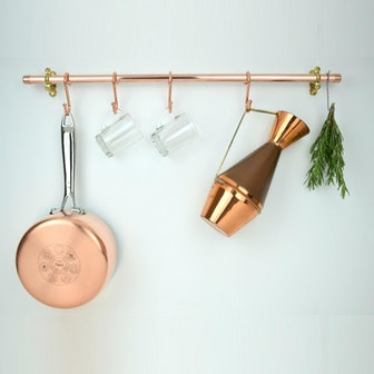 Copper Pot And Pan Rail