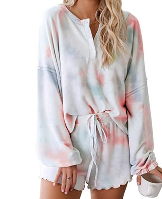T1FE 1SFE Tie-Dye Pajama Set (2 Pieces)