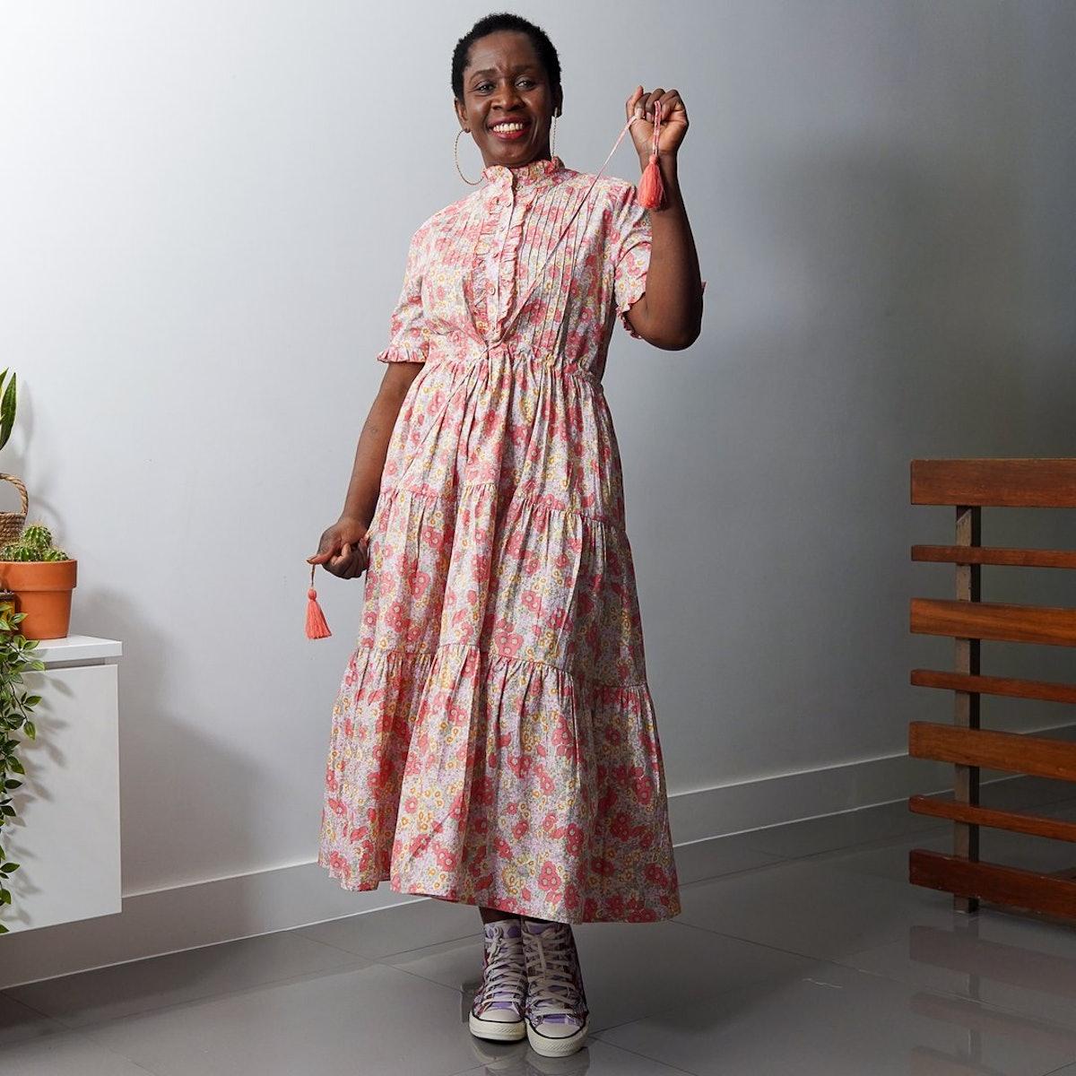 Flower Garden Brushed Cotton Dress
