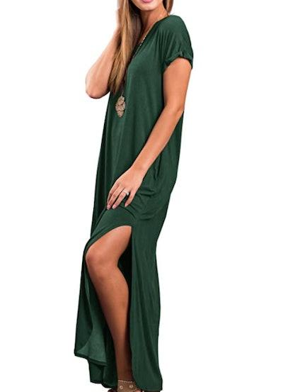 GRECERELLE Casual Short Sleeve Maxi Dress