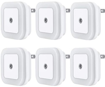 Uigos LED Automatic Night Lights (6-Pack)