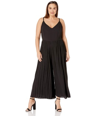 City Chic Plus Size Wide Leg Pleated Jumpsuit