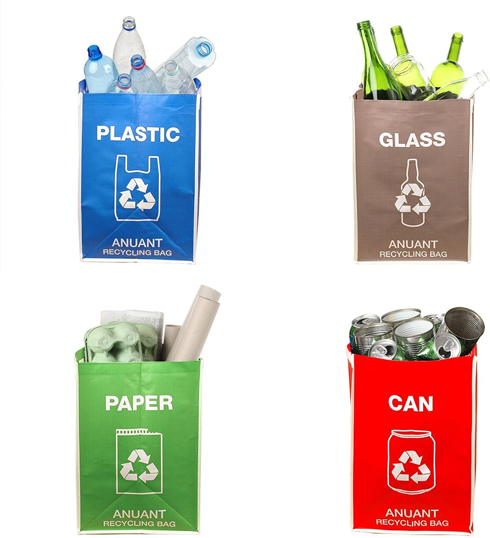 ANUANT Recycling Waste Bin Bags (Set of 4)