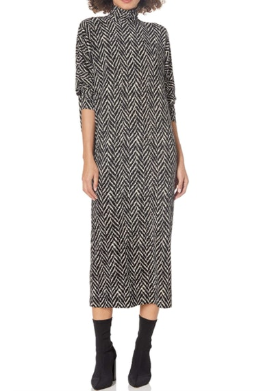 Norma Kamali Herringbone Tweed Dress