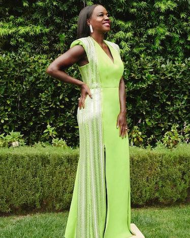 Viola Davis lime green dress SAG Awards