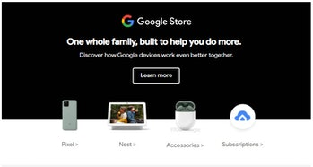A marketing email sent by Google shows a pair of Pixel Buds earbuds that aren't currently available ...
