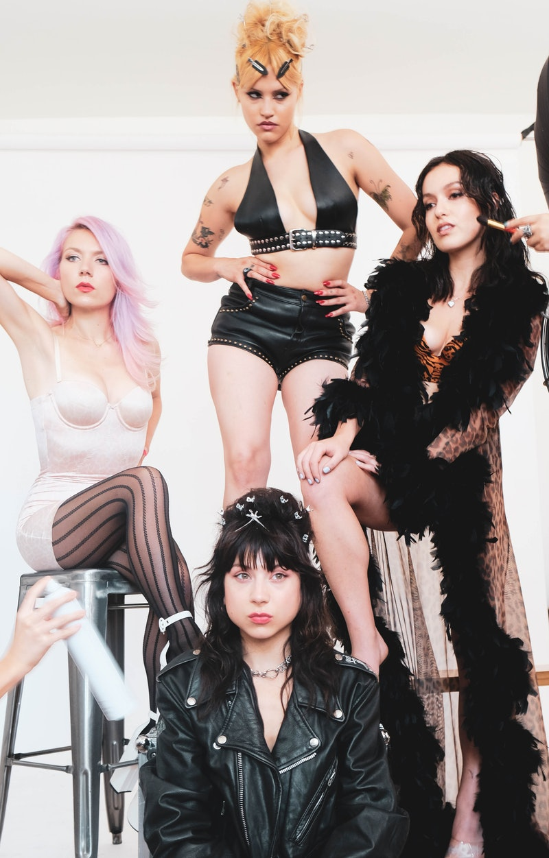 The members of Nasty Cherry pose for a portrait.
