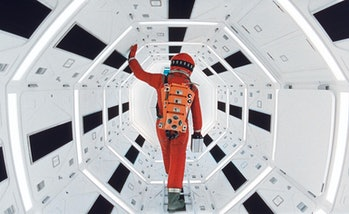 Spaceship hallway in 2001: A Space Odyssey