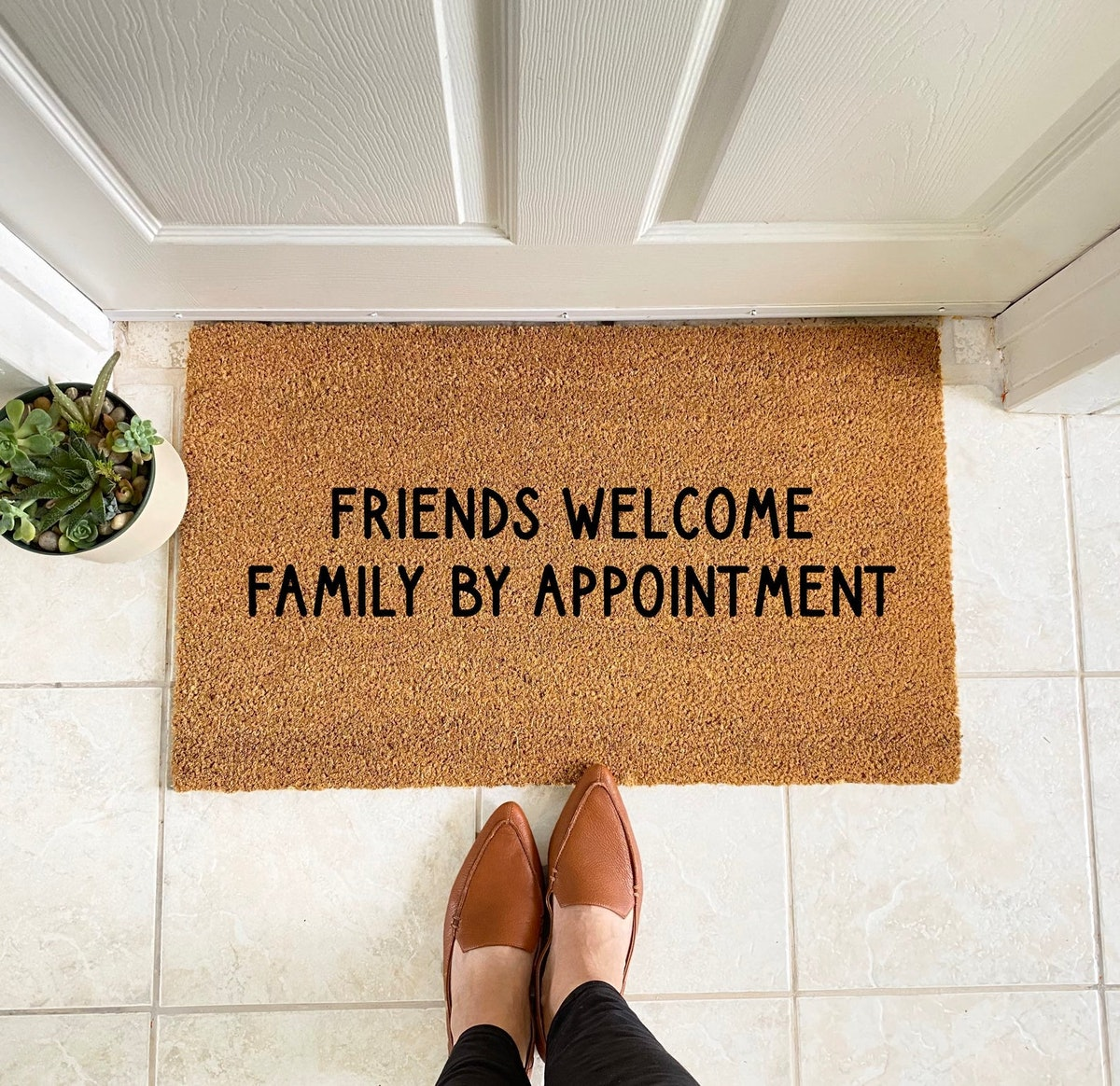 Friends Welcome Family By Appointment Doormat