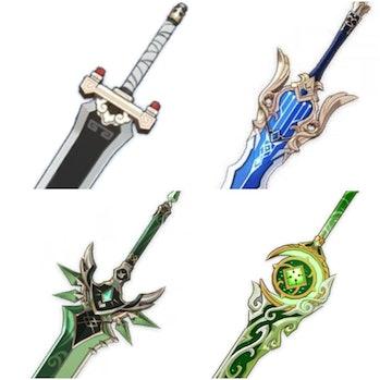 Genshin Impact Leaked Weapon Quartz, Song of Broken Pines Primordeal Jade Appease