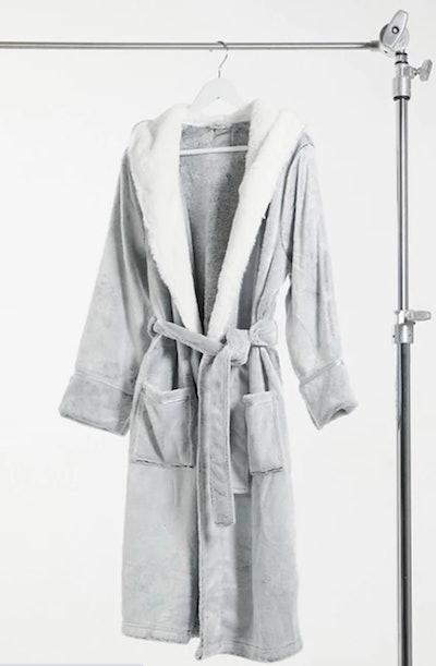 Soft Fluffy Robe in Light Grey