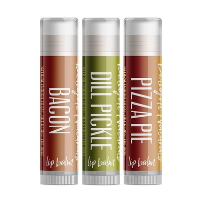 Delight Naturals Weird Flavor Fun Lip Balm Set (3-Pack)