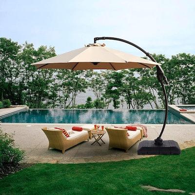 Grand patio Curvy Aluminum Offset Umbrella (11 Feet)