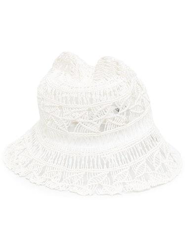 Crochet-Knit Style Bucket Hat