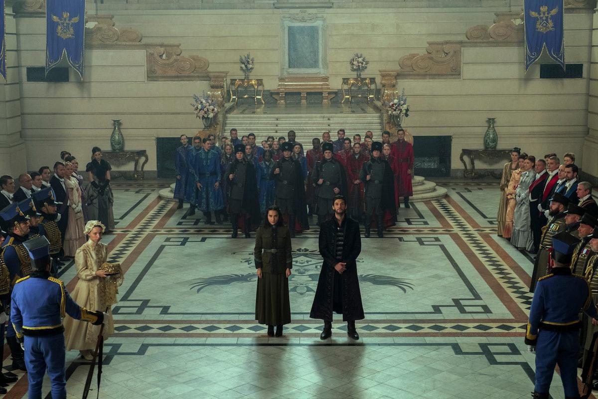 Jessie Mei Li as Alina Starkov and Ben Barnes as The Darkling/General Kirigan in Shadow And Bone.
