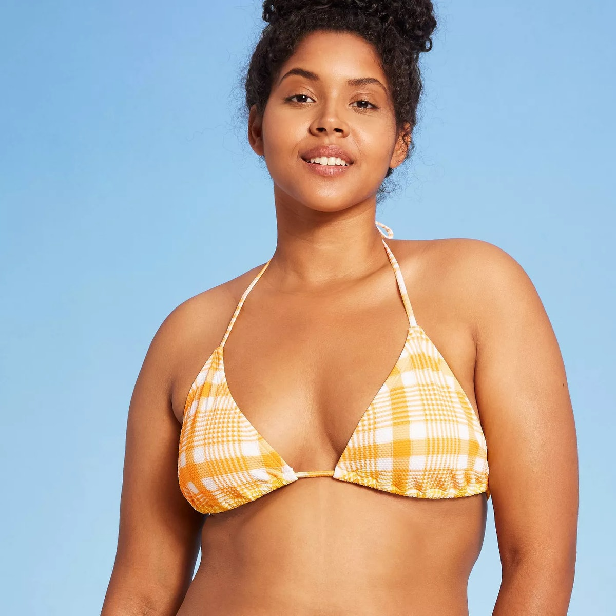 Xhilaration Juniors' Textured Triangle Bikini Top