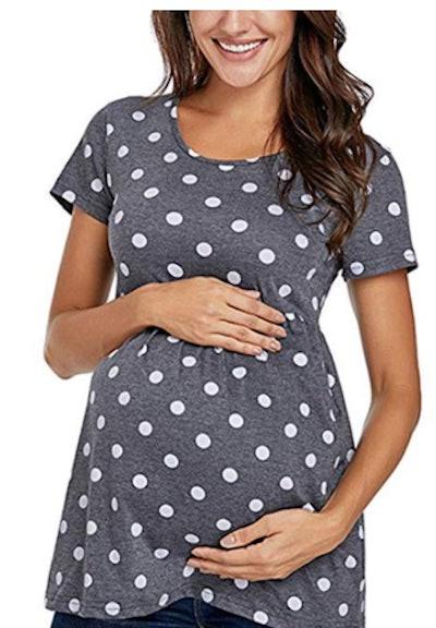 Polka Dot Maternity Top