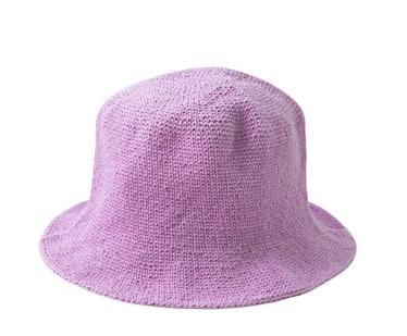 Florette Crochet Bucket Hat in Lilac Purple