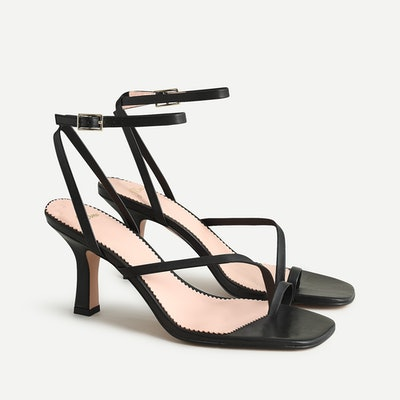 Strappy Toe-Ring Heeled Sandal