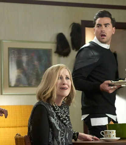The cast of 'Schitt's Creek' before the finale on PopTV