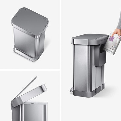simplehuman Rectangular Hands-Free Kitchen Step Trash Can