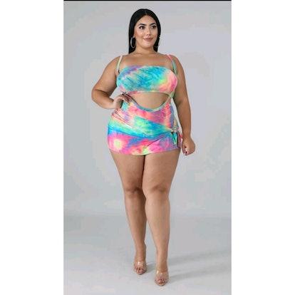 Curvaceous Boutique Cotton Candy 3 Pcs Swimsuit