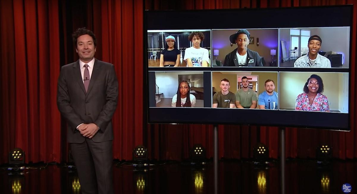 Jimmy Fallon hosts top TikTok choreographers on his show.