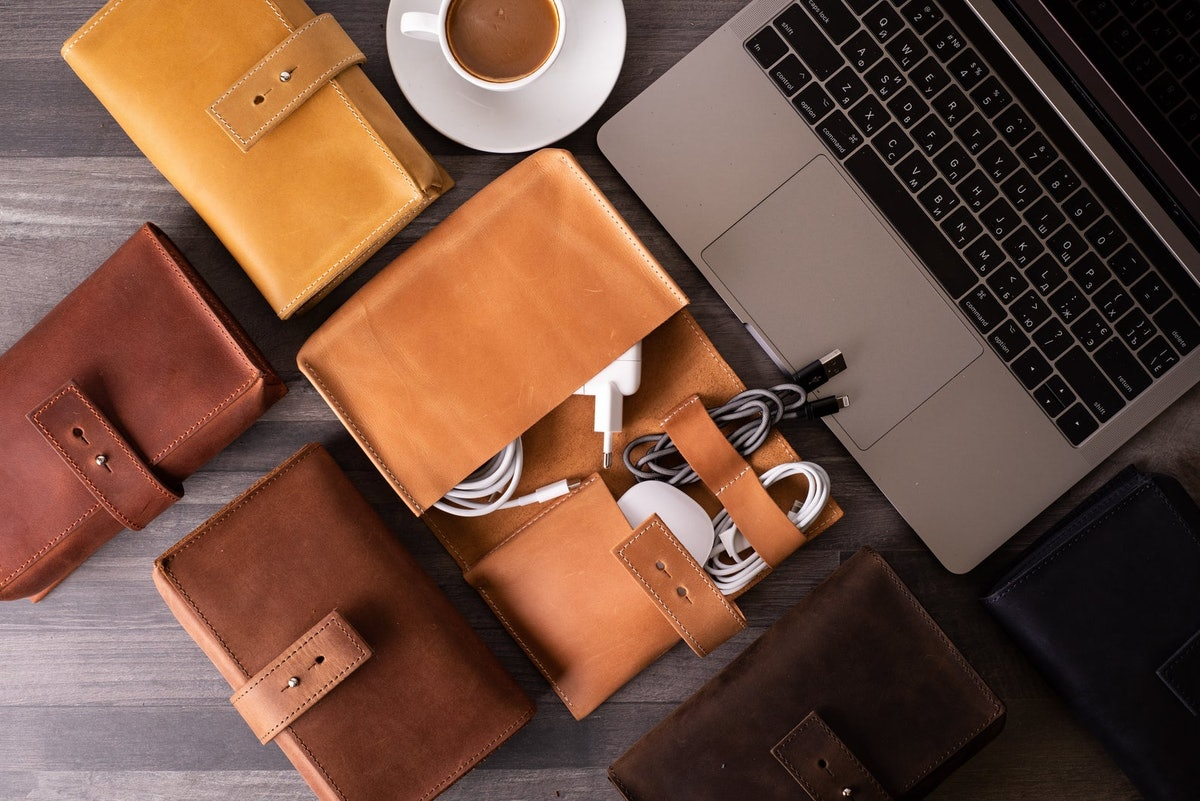 Leather Cable Organizer