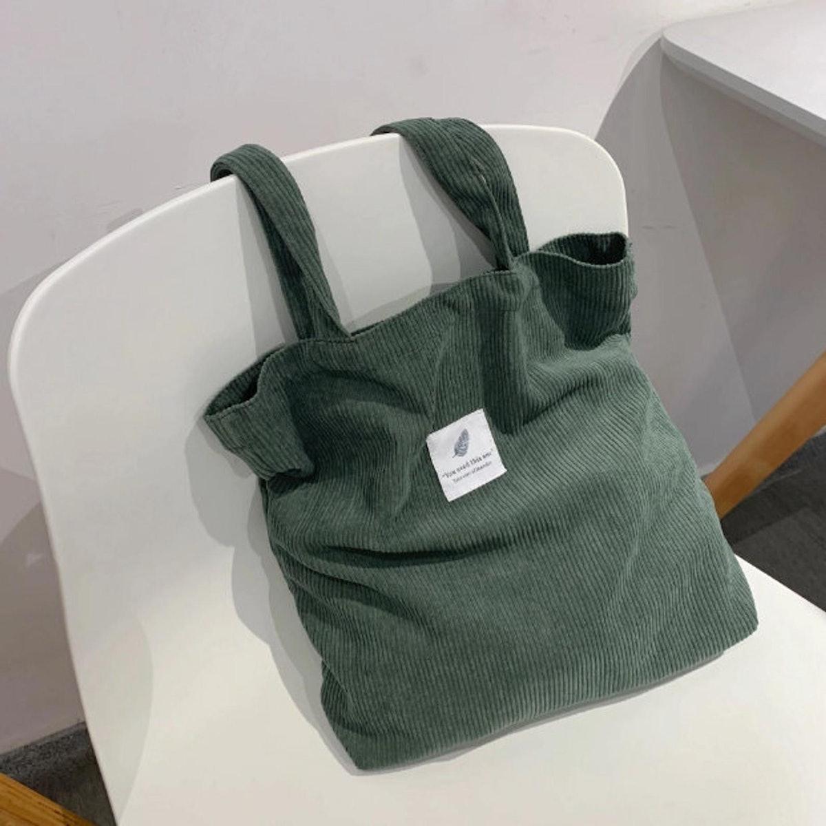 Corduroy Eco-Friendly Tote Bag