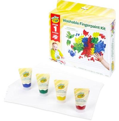 My First Fingerpaint Kit Washable Paint Set