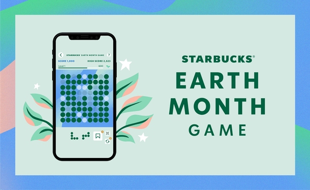 Here's how to get free plays in Starbucks' Earth Month game.